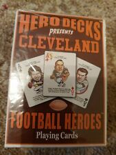 CLEVELAND  FOOTBALL HERO DECKS PLAYING CARD DECK NEW SEALED