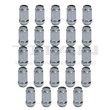 "24pc Chrome XL Lug Nuts 3/4"" Head 14x1.5 Bulge Acorn Chevy Silverado GMC Sierrra"