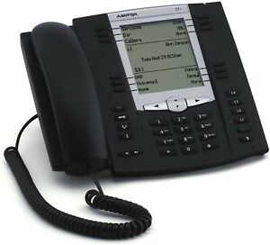 aastra 57i VoIP Desktop phone with power adapter, used