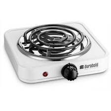 Electric Single Burner 1000W Portable 7 Inch Stainless Steel Hot Plate New White
