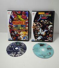 Marvel Vs Capcom 1 & 2 w/ Custom Cases Sega Dreamcast Video Game
