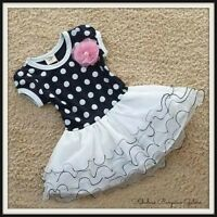 New Polka Dot Casual Girls Dress Kids Clothes With Tutu Skirt Detachable Bow UK