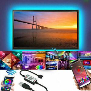 LED Strip Lights USB 5M RGB 5050 Light TV Bluetooth Lighting 12V IP65 Waterproof