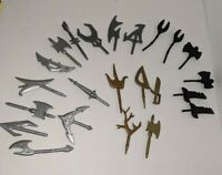 Battle Beasts Rare Weapons Lot (23 Pieces) Extremely Hard To Find silver/black
