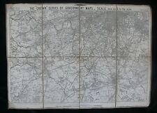 """West London c.1880's """"corona"""" de la serie de gobierno mapa por Thomas Letts"""