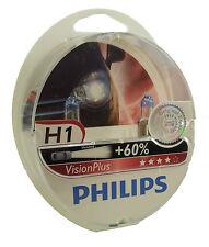 H1 PHILIPS VisionPlus dos bombillas 60% más de luz en carretera 12258VPS2
