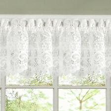 """Hopewell Heavy Floral Lace Kitchen Window Curtain 12"""" x 58"""" Valance"""