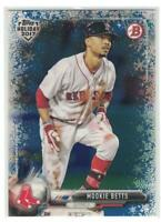 2017 Mookie Betts Topps Holiday Bowman Blue Winter Wonderland #/35 Red Sox Dodge