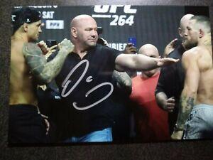 DANA WHITE Authentic Hand Signed Autograph 4X6 Photo  - PRESIDENT UFC