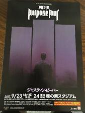 Justin Bieber Japan Mint promo Purpose Tour live concert flyer mini-poster Rare!