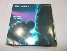 """JIMMY BARNES - WHEN A MAN LOVES A WOMAN / I'D DIE TO BE WITH- OZ 7""""PIC/SLV VINYL"""