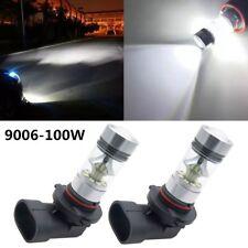 2x 9006 HB4 100W Voiture LED Phare Feux Brouillard Lampe DRL Ampoule Blanc 6000K