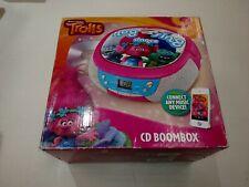 Trolls DreamWorks Hug Sing Dance CD Player Stereo Boombox with AMFM Radio