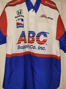 SIMMONS ABC SUPPLY CO AJ FOYT INDY CAR RACING PIT CREW SHIRT XL  Made in USA