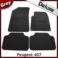 Peugeot 407 2004 - 2006 2007 2008 2009 2010 Tailored LUXURY 1300g Car Mats GREY
