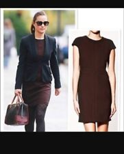 New Rare Zara Black And Burgundy Stretch Pencil Dress ASO Royal Xs