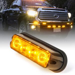 Xprite LED Grille Side Marker Flash Strobe Light for 2016-2021 Toyota Tacoma TRD