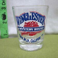 WINCHESTER MYSTERY HOUSE beat-up shot glass San Jose booze California