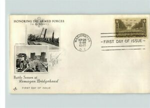"""United States ARMY 1945 """"Battle Scenes at Remagen Bridgehead"""" First Day of Issue"""