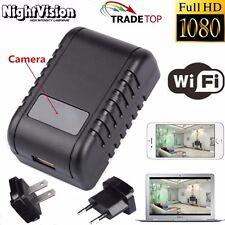 Mini 1080P WIFI HD SPY DVR Hidden Camera AC Plug Night Vision Video Recorder Cam