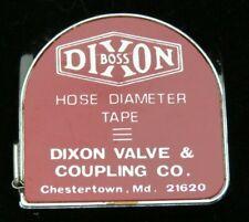 Vintage DIXON BOSS Hose Diameter Tape Dixon Valve & Coupling Co. 6 Ft Tape