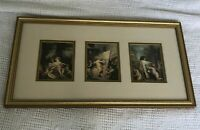Gold Framed Matted Three Cherubs and the Arts Prints of Paintings