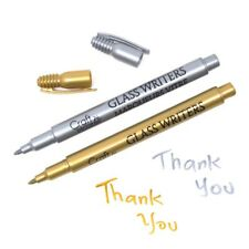 Glass Writers 1.2mm Fine Point, Gold/Silver, 5-Inch, 2-Piece