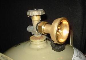 Adaptateur LPG GPL pour remplir gaz bouteille Propane Butane CLAPET ANTI-RETOUR