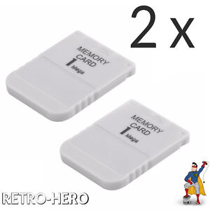 2 x 1MB Memory Card für PS1 PlayStation 1 Speicherkarte PS One 1 MB Play Station
