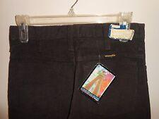 Vintage 60s 70s Wrangler Jeans Women's Brown Corduroy Pants 29x29 Nwt