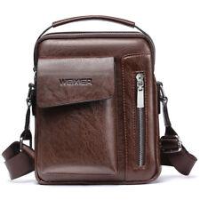 WEIXIER Men's Genuine Leather Messenger Cross body Tote Handbag Shoulder Bag