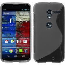 Coque en Silicone Motorola Moto X - S-Style gris + films de protection