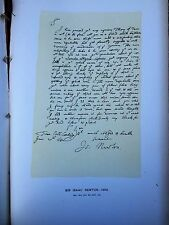 Letter by Issac Newton, 1682   ( facsimile )