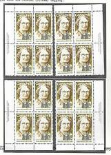 pk33659:Stamps-Canada #622 Nellie McClung 8 cent Set of Plate Blocks-MNH