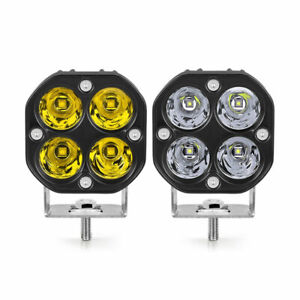 40W Yellow White LED Work Light Bar Spot Pods Offroad 4WD SUV Driving Fog Lamp