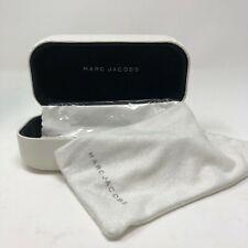 Marc Jacobs Sunglasses Eyeglass Hard Case White Folding Clamshell