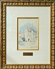 """COLIN CAMPBELL COOPER ANA LISTED """"Beautiful German Castle"""" 1909  Great Frame!!"""