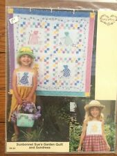 """Sunbonnet Sue's Garden Quilt and Sundress PA 60 Mary's Patterns 36"""" x 36"""" (52)"""