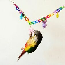 Pet Bird Parrot Chew Toy Acrylic Hanging Swing Cages Parakeet Stand Chain