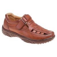 Sandali uomo punta chiusa scarpe estive leggere COMODO MARRONE MODA FASHION