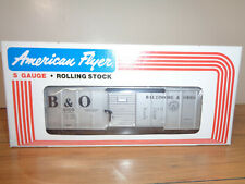 AMERICAN FLYER S GAUGE # 4-9709 BALTIMORE & OHIO SLIVER BOXCAR - NEW