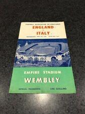 England v Italy International Football Programme 1959