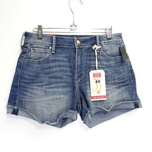 New Signature By Levis Womens Modern High Rise Stretch Denim Jean Shorts US 2