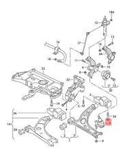 Genuine Guide joint left VW AUDI Beetle Convertible Eos 1K0407365C