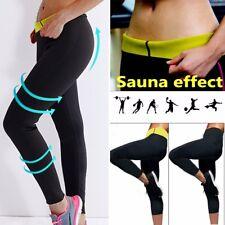 Thermo Sweat Hot Neoprene Body Shaper Long Pants Slim Legging Yoga Trousers UK H