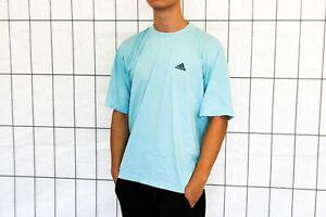 adidas vintage T-Shirt 90s Gr. M blau Shirt EP1