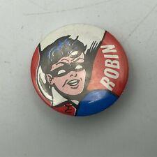 "1966 Robin From Batman DC Comics Vintage Original 1"" Pin Pinback Button   M6"