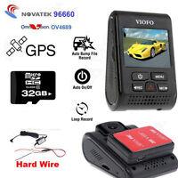 "Car Dash Camera 2.0"" A119 Capacitor DVR Cam GPS 2K HD 1440P+Hard Wire+32GB Card"