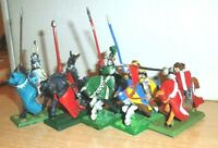 Warhammer Fantasy Painted 5 Bretonnian Questing/ GRAIL Kinghts NICELY PAINTED 5