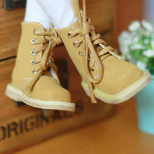 Yosd Boots 1/6 BJD Shoes Yellow Nubuck leather Shoes Dollfie DIM Luts AOD DZ AF